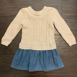 Gap sweater and denim dress size 3T